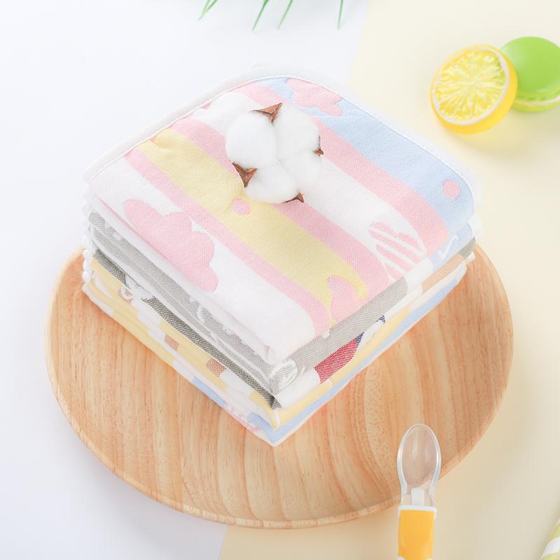 加大款纯棉宝宝口水巾吸水棉纱布5条装券后20.90元