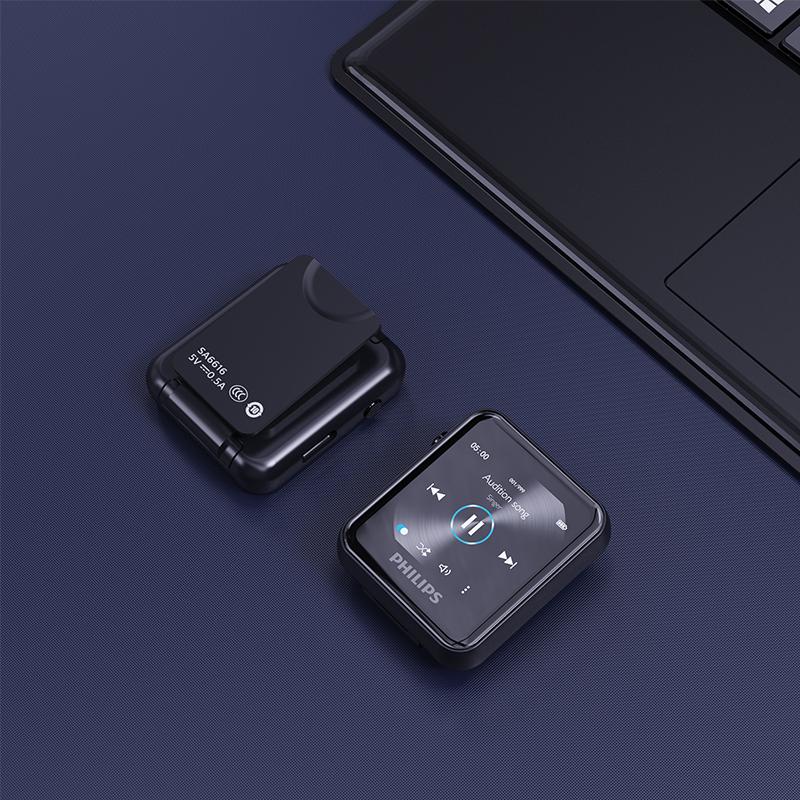 飞利浦SA6116MP3蓝牙音乐播放器小型便携式英语听力随身听学生版