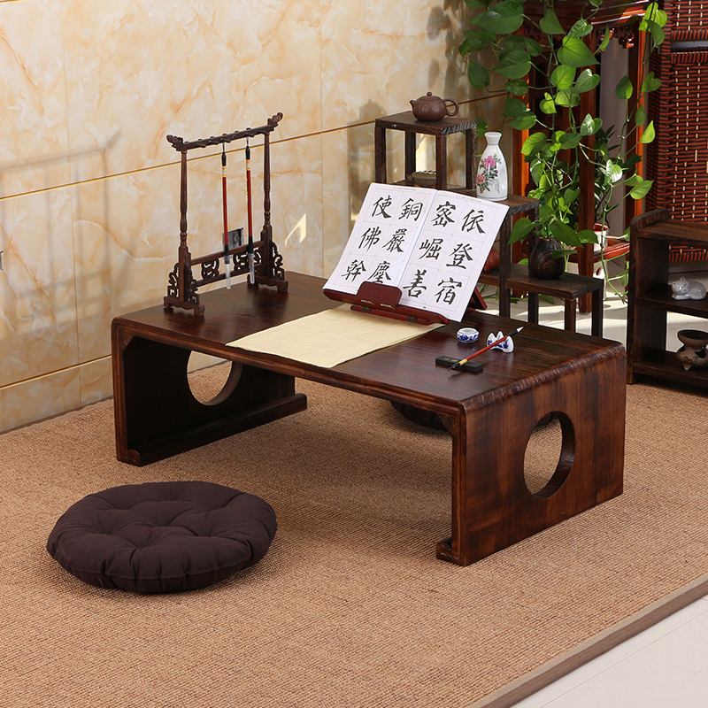 Solid wood antique Chinese School table and chair tatami coffee table bay  window table calligraphy table - USD 86.79] Solid Wood Antique Chinese School Table And Chair Tatami