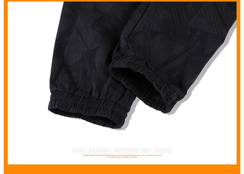 Lớn kích thước của nam giới thể thao giản dị chín quần của nam giới quần phần mỏng lỏng chất béo chất béo cộng với phân bón cộng với mùa hè