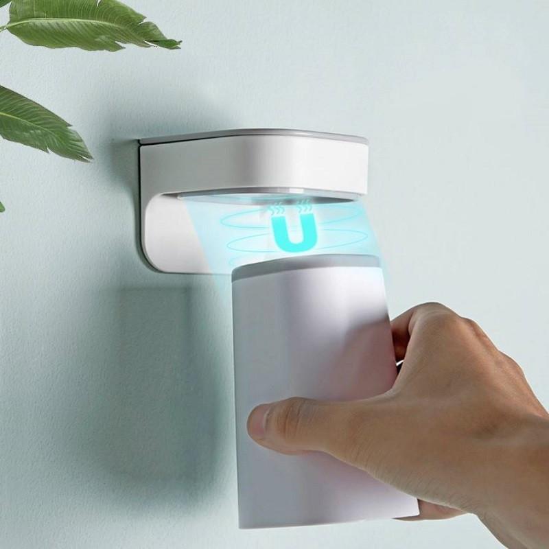 磁吸漱口杯套装牙刷杯置物架情侣收纳盒免打孔卫生间刷牙杯挂墙式