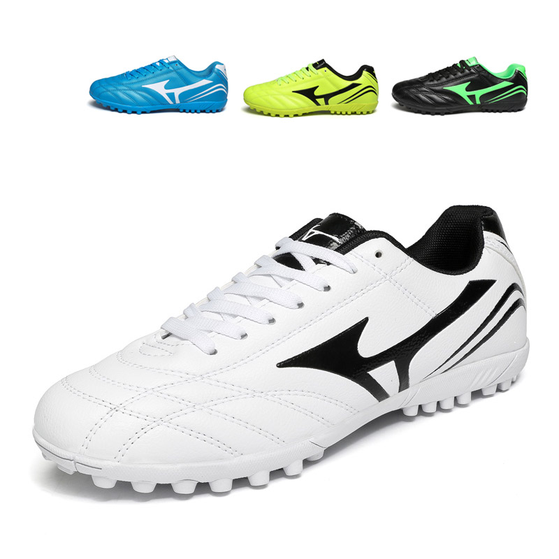 c6a82b4fd25ac Macy white soccer shoes broken nail male female students children adult  spike training shoes competition sneakers black