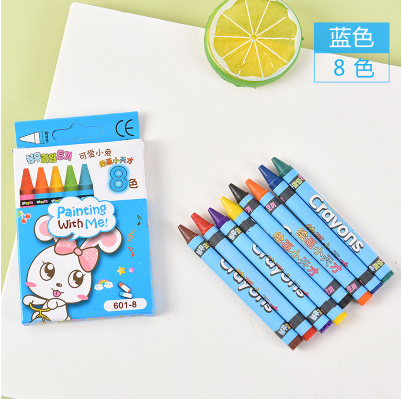 Ginger 8 Color Crayons Blue