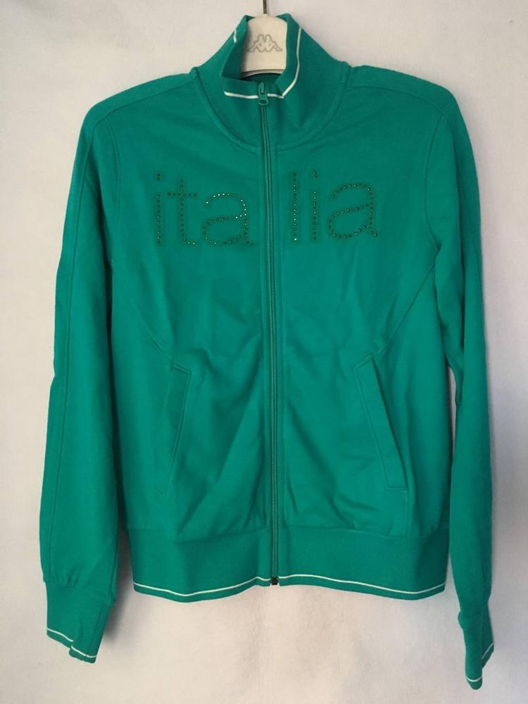 Kappa卡帕运动外套女休闲针织夹克开衫镶钻立领卫衣 K0122WK08