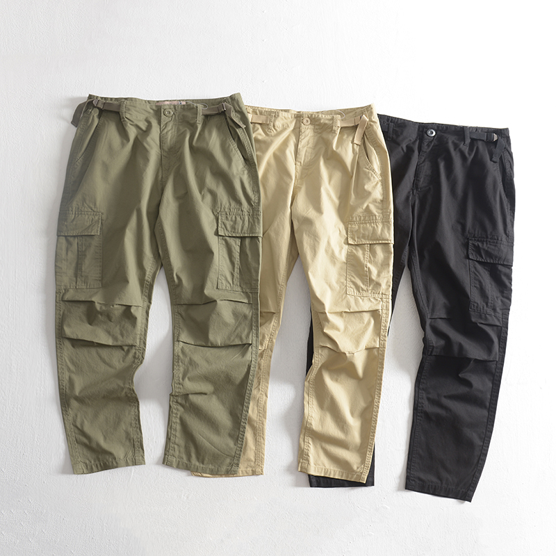 Spring and autumn thin men's loose sports bundle foot collection multi-bag casual pants day line cotton hundred-sum trousers