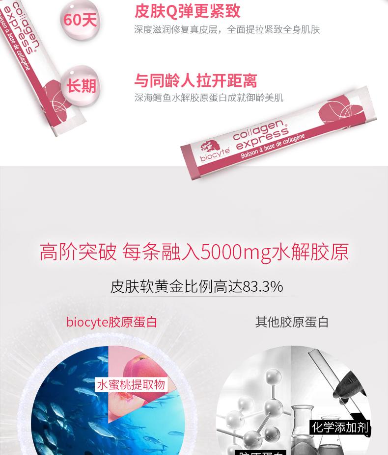 biocyte鳕鱼胶原蛋白粉养颜美容抚平细纹法国正品3盒起购3个月量 ¥388.00 产品中心 第10张