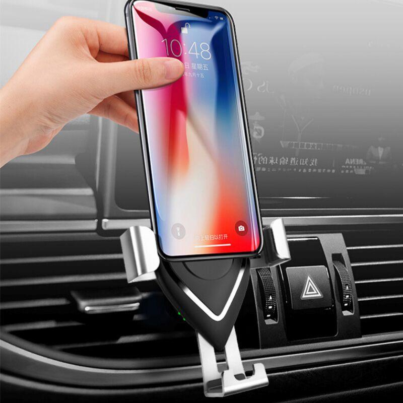 车载手机支架汽车上用出风口导航卡扣式重力支撑万能通用无线充电-给呗网