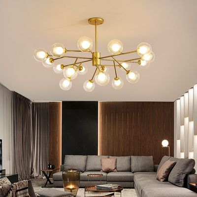 Nordic Creative Modern Magic Bean Chandelier Personality Living Room Bedroom Restaurant Lighting Warm Atmospheric Molecular Lighting