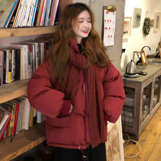 Winter cotton-padded jacket 2019 new Korean version of the thickened cotton-padded jacket female students bread short style loose cotton-padded jacket fashion