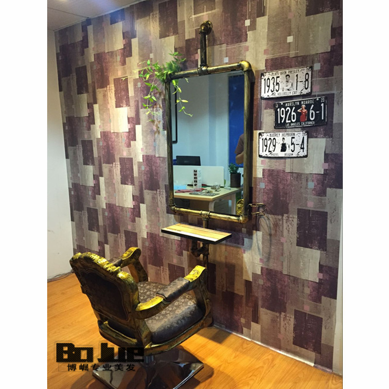 factory direct sales retro hairdressing mirror barber shop double