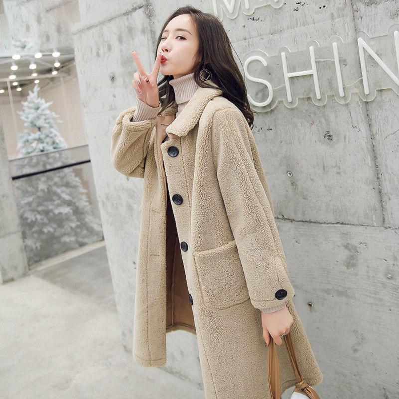 2020中长款韩国外套款冬季时尚潮流加厚宽松大衣修身a外套大衣