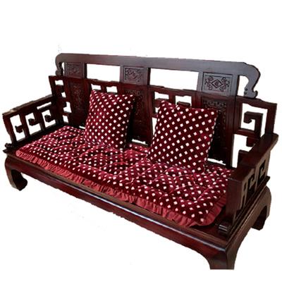 实木沙发垫中式红木椅老式春秋椅垫子防滑加厚短毛绒木质沙发坐垫
