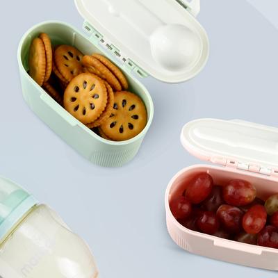婴儿装奶粉盒便携式外出分装盒迷你小号奶格盒零食盒大容量奶粉格