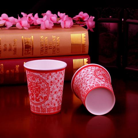吴芳 结婚庆用品一次性纸杯 婚礼喜宴红杯