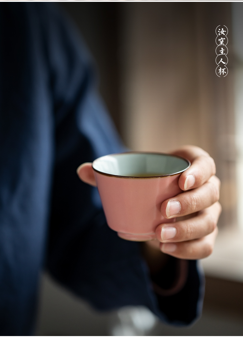 Jingdezhen tea set your trade, the people of Chinese single CPU ceramics can be keep open piece of personal special tea tea by hand