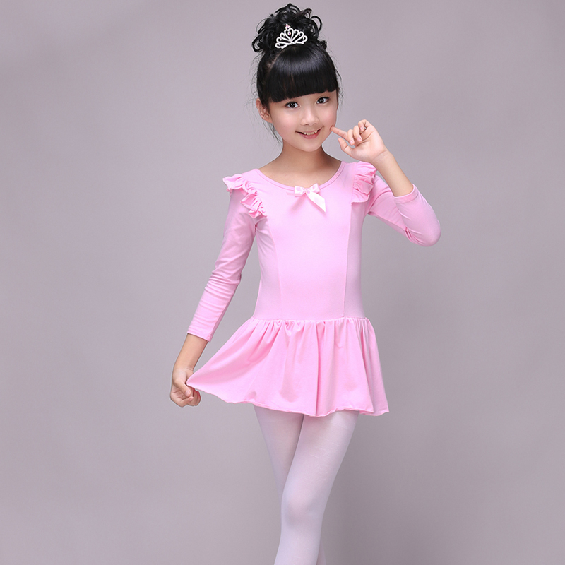 6bbbbafdc Children s dance wear girls Latin long-sleeved practice clothes ...