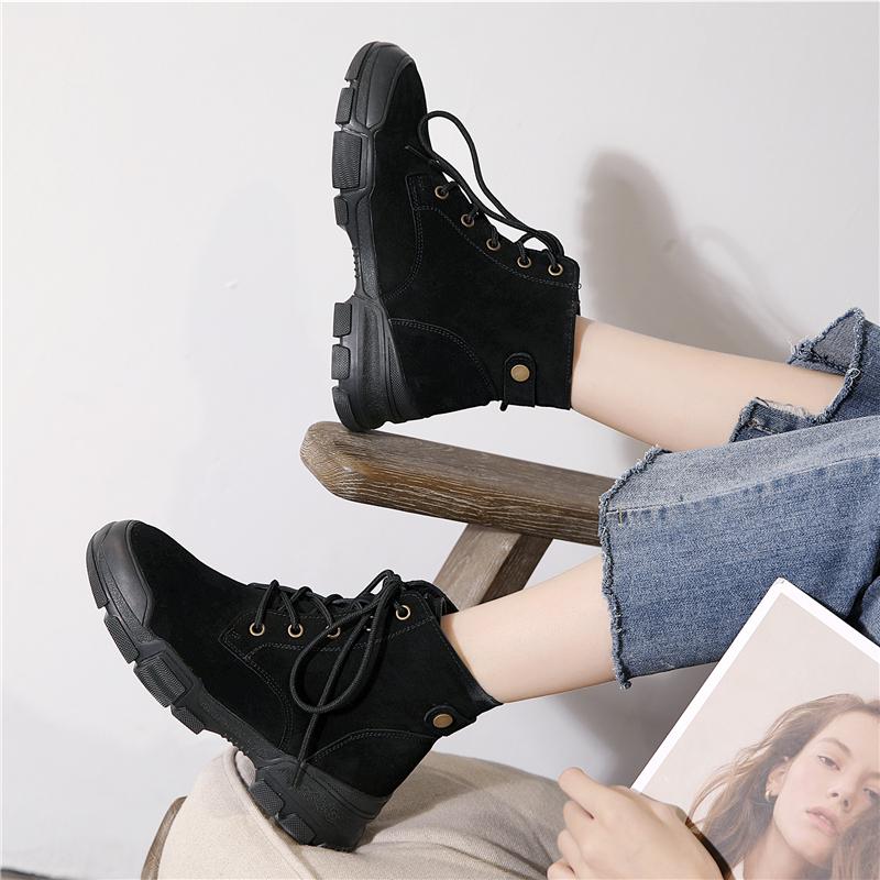 马丁靴女英伦风2019新款夏季百搭真皮透气机车短靴女平底靴子女夏