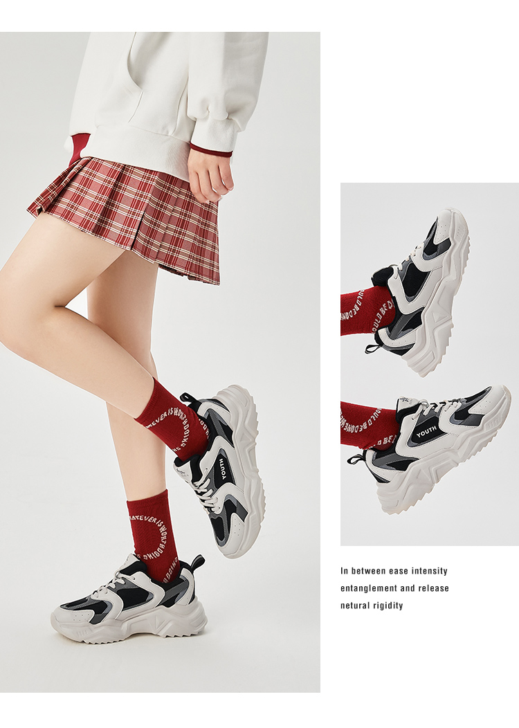 Semir 女士 厚底老爹鞋 时尚休闲运动鞋 图7