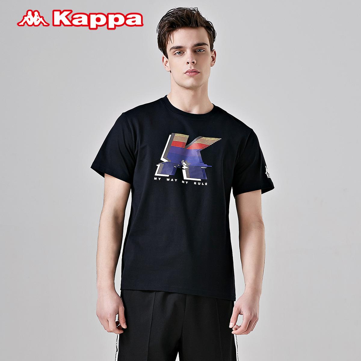Kappa卡帕男款休闲短袖运动T恤夏季半袖|K0912TD53D