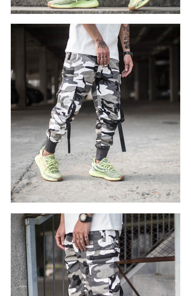 Giấu quần chùm nam thủy triều thương hiệu Yu Wenle mùa hè đa túi dụng cụ quần lỏng Harlan giản dị quần paratrooper