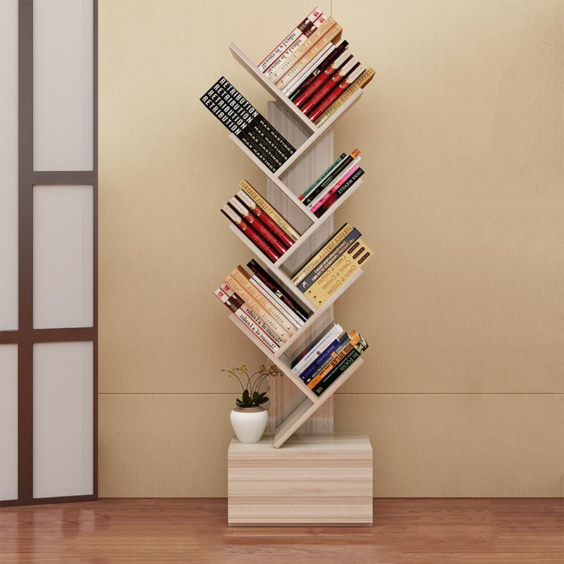 Simple Bookshelf Landing Small Bookcase Modern Creative Tree Rack Office Display