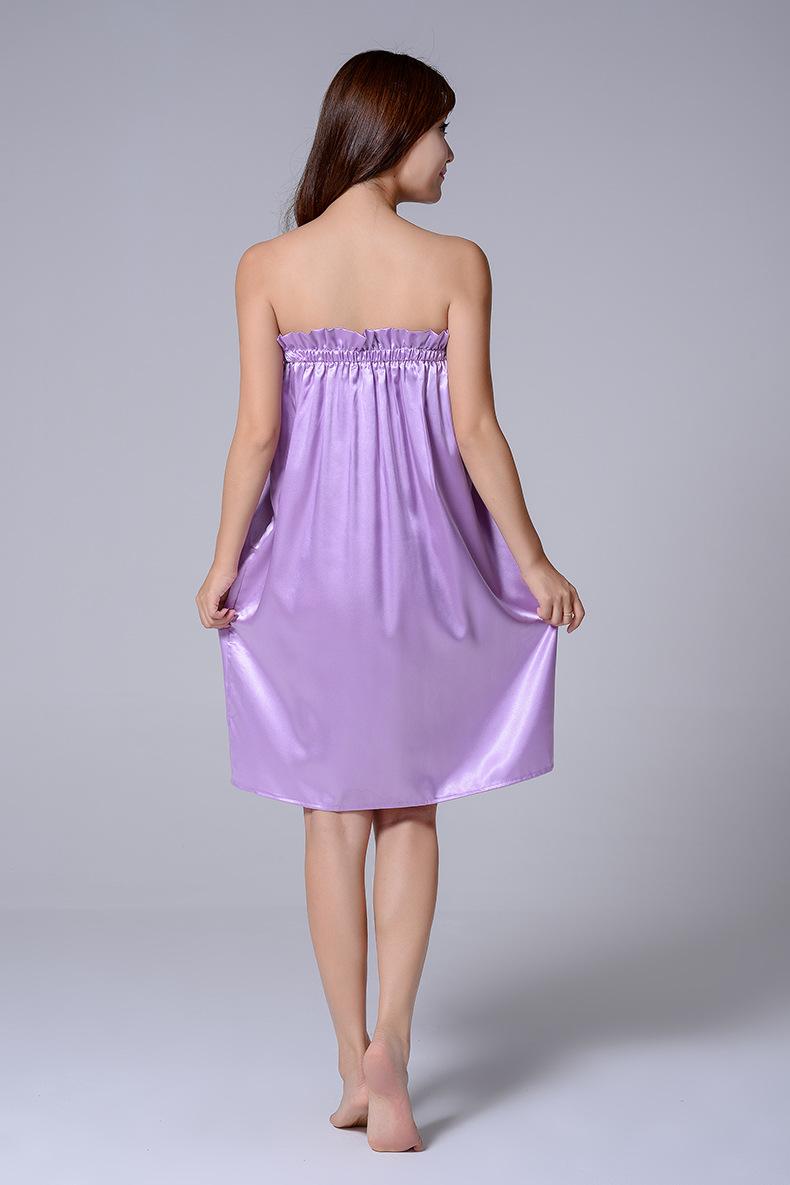 Váy lụa YL màu tím (6)