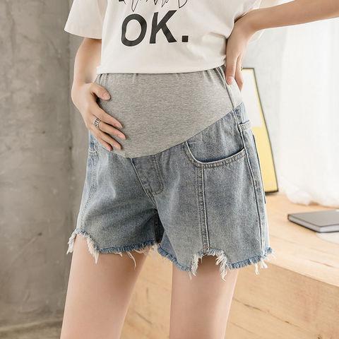 孕妇牛仔短裤夏薄款孕妇裤子夏季时尚宽松大码打底裤潮妈外穿夏装