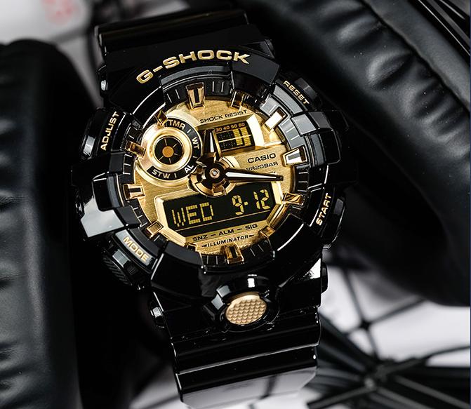 机械感卡西欧手表,玩转时尚街头风