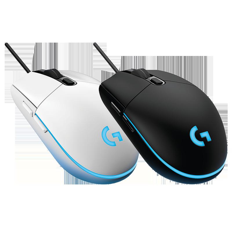 罗技G102 有线游戏鼠标呼吸灯升级8000DPI编程绝地求生/H1Z1/LOL
