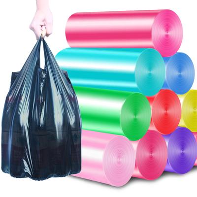 垃圾袋家用手提式加厚实惠装一次性黑色批发背心拉圾桶塑料袋大号