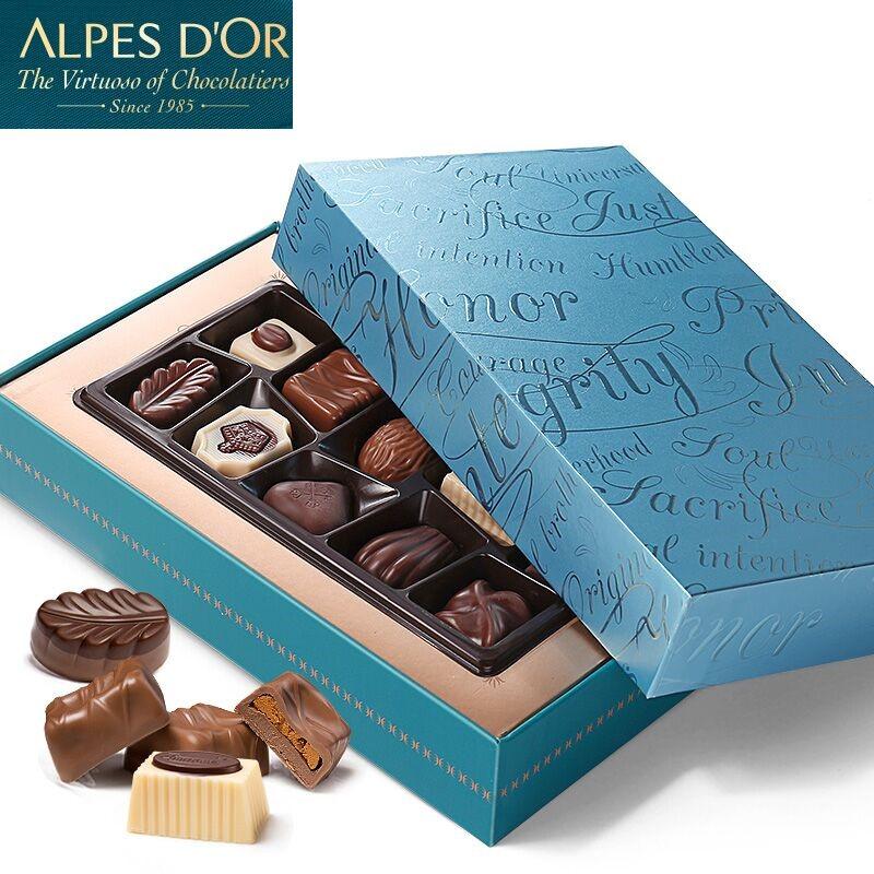 爱普诗比利时夹心巧克力酒心糖果进口零食礼盒装节日创意圣诞礼物-给呗网