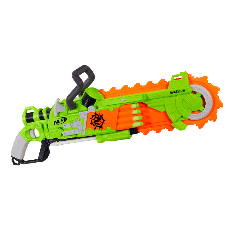 Baby's Treasure nerf heat zombie chainsaw transmitter soft bullet chainsaw eight tube boy toy birthday Gift