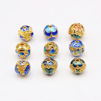 New Cloisonne accessories 10mm round beads DIY sweater chain