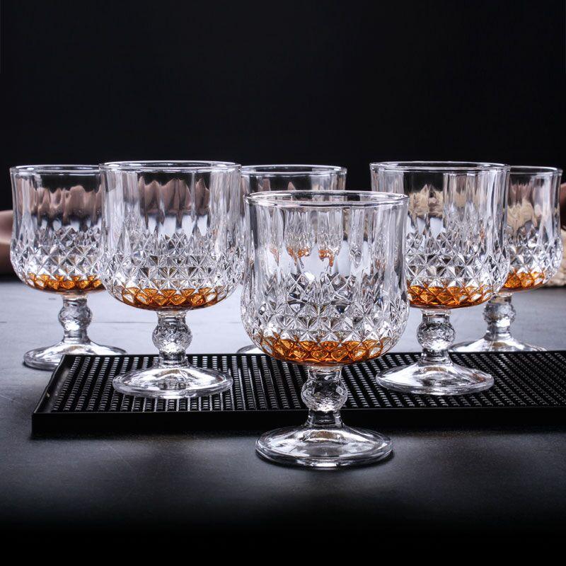 复古加厚水晶玻璃钻石高脚红酒杯威士忌家用香槟洋酒葡萄酒杯套装_淘宝优惠券