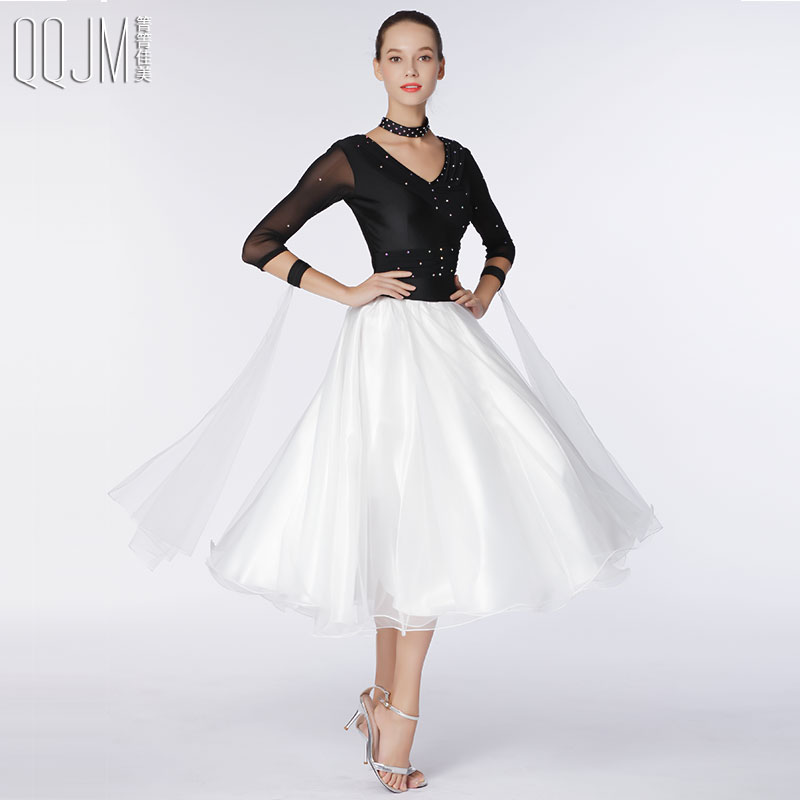 6619aa924827 2019 new modern dance dress dress International Dance Dress ballroom dance  waltz dress organza dress