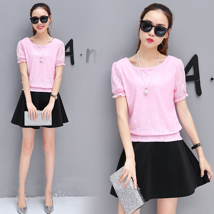 Pink top + skirt [two sets]