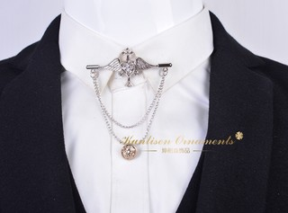 Free shipping men's suit brooch crystal cross brooch brooch brooch pin shirt French collar pin buckle tassel collar flower