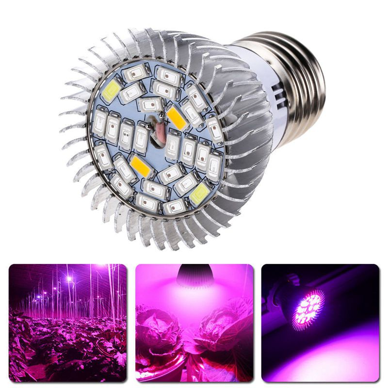 28W Full Spectrum E27 Led Grow Light Growing Lamp Light Bulb