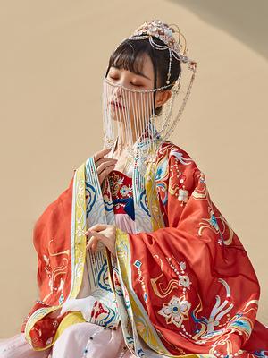 【十三余 小豆蔻儿】[鹿王梵音]广袖重工刺绣两层大袖衫绣花汉服