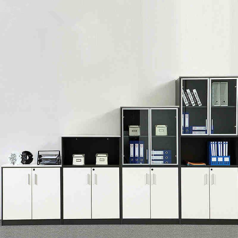 深圳组合家具柜子文件柜书柜办公木质高低矮柜储物柜资料柜带锁