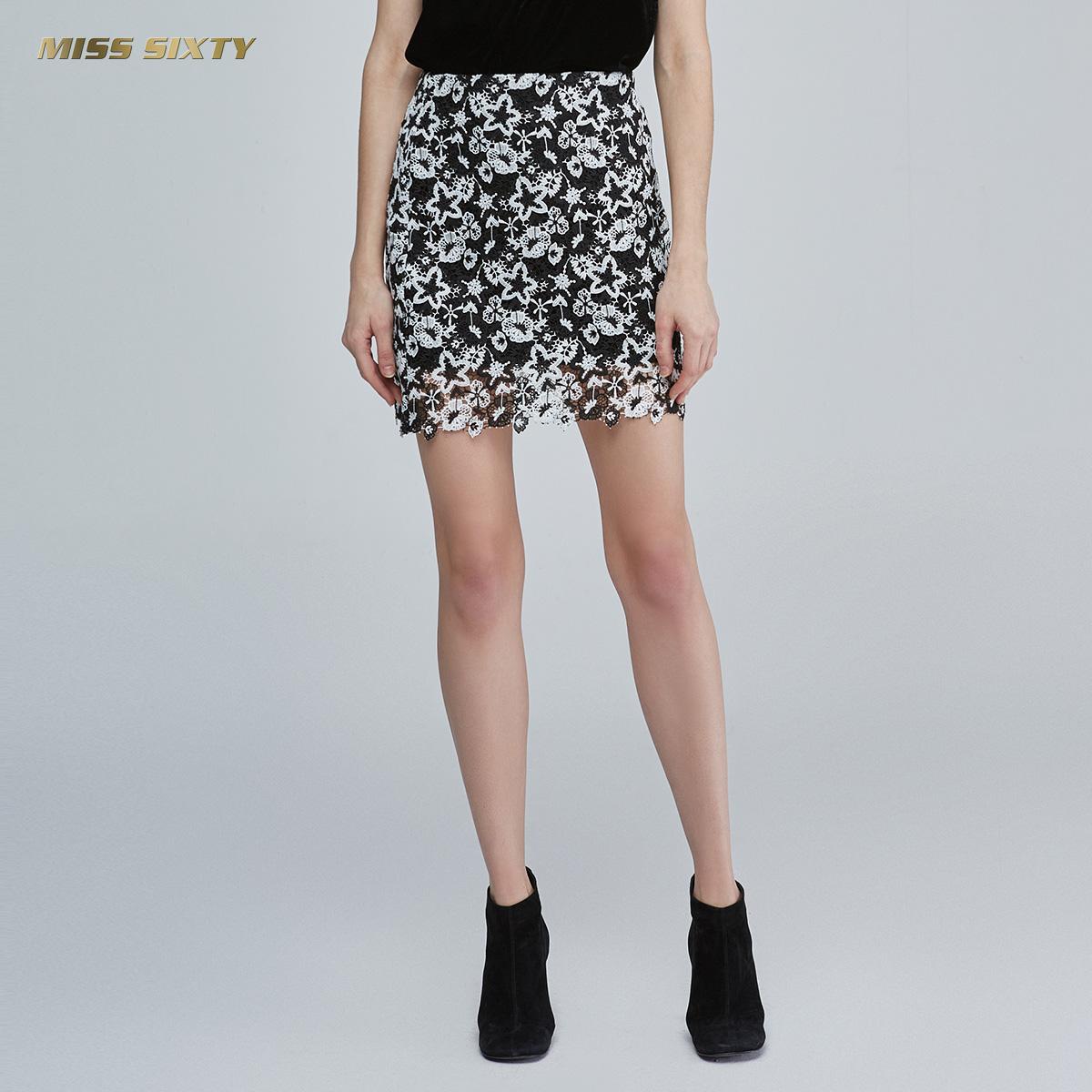 C Miss Sixty2018新款夏季短裙ins超火高腰半身裙女681KJ5581000