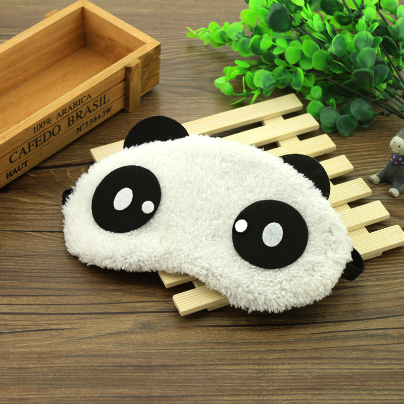 Wide feather breathable sleep cute cartoon sleeping shade goggles Hot Ice  Ice Cold goggles Panda cover