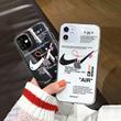 潮牌断勾个性情侣iPhone11pro/XSmax手机壳苹果X/7/8plus透明XR软