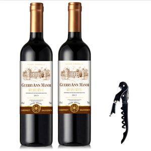 第2件半价|包邮法国红酒进口干红葡萄酒整箱6支装袋送婚庆皮礼盒