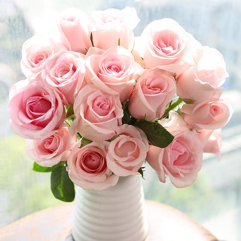 云南昆明基地直发玫瑰花鲜花批发包邮直批一扎20支家用插花直供