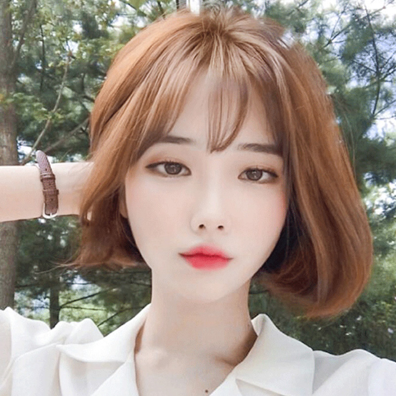Korean Bangs Hairstyle For Round Face - Best Haircut 2020