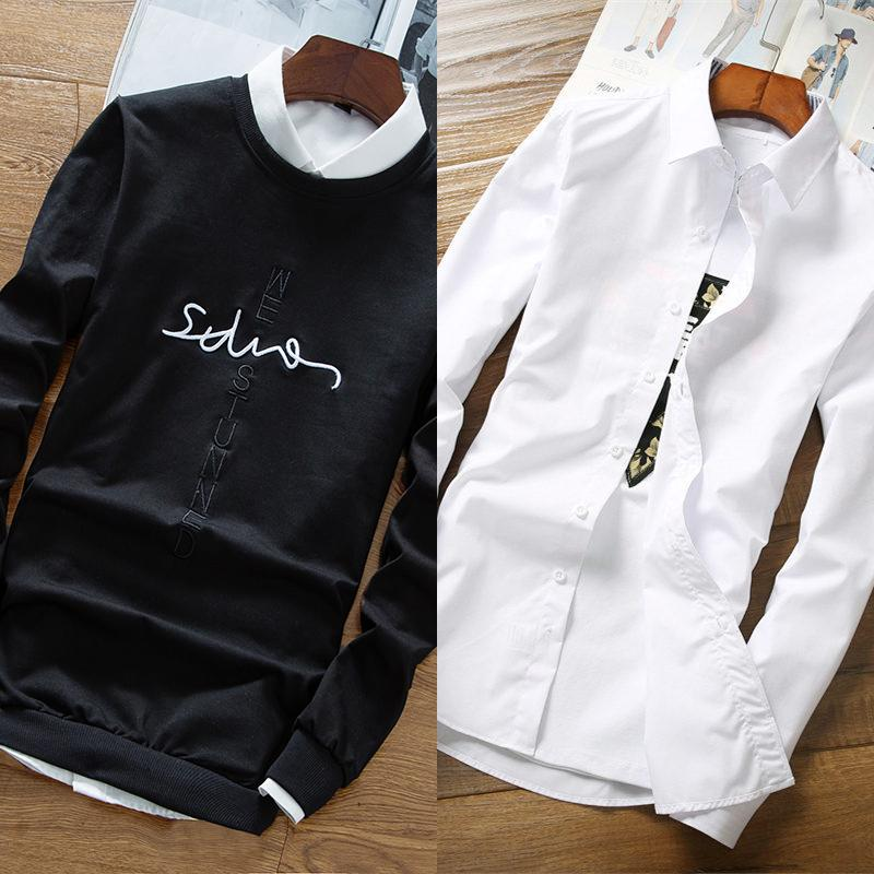 We613 black (no plus velvet) + white shirt