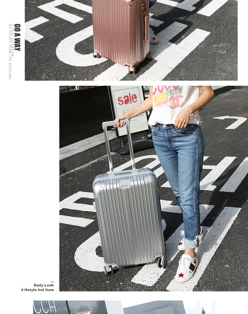 网红拉桿箱旅行箱大学生密码皮箱包寸万向轮男旅行李箱女详细照片