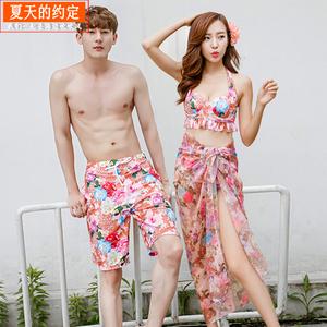 Kỳ nghỉ bên bờ biển của cặp đôi đồ bơi phụ nữ ngực nhỏ ba mảnh tập hợp bikini bảo thủ che bụng đồ bơi bãi biển spa
