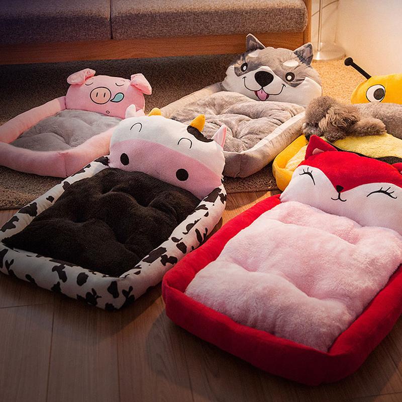 Лежанка для животных Тедди питомник съемные и моющиеся коврики зима домашнее животное большой средний маленький собаки Бишон золотистый Ретривер мультфильм четыре сезона универсальный